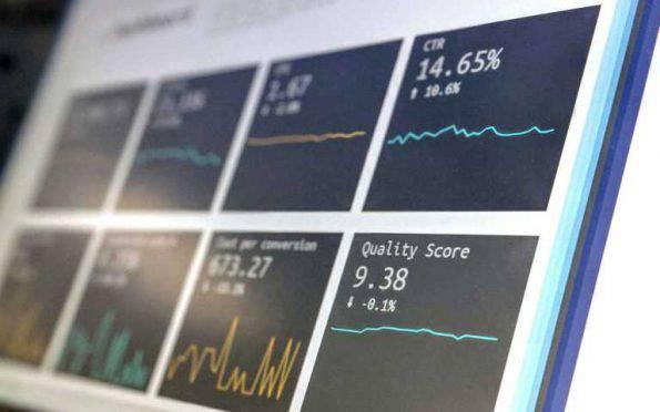 dashboard met online stats